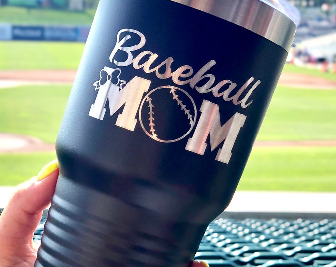 Baseball Mom 30 Ounce Polar Camel Powder Coated Tumbler
