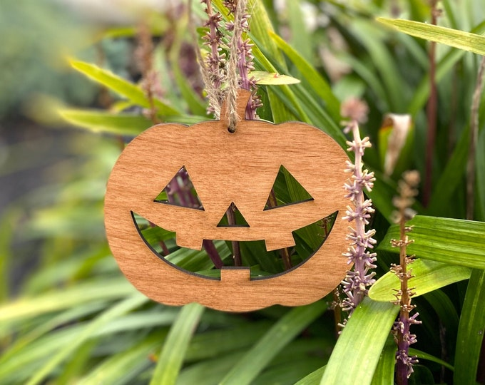 Wood Pumpkin Ornament