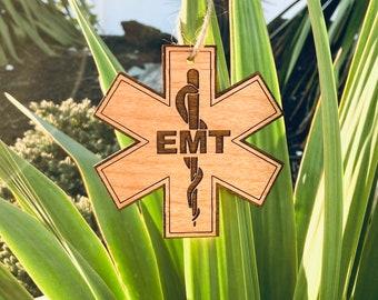 Laser Engraved EMT Cross Ornament