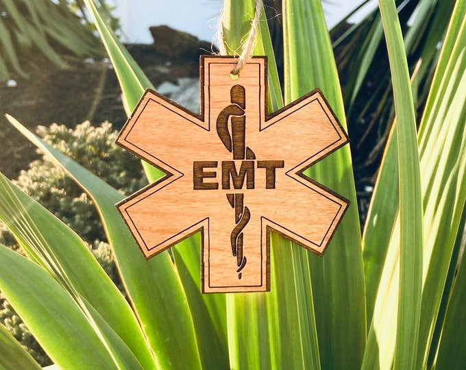Laser Engraved EMT Cross Ornament