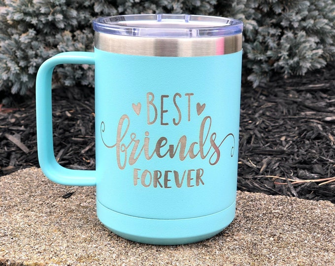 Best Friends Forever 15 Ounce Polar Camel Powder Coated Coffee Tumbler