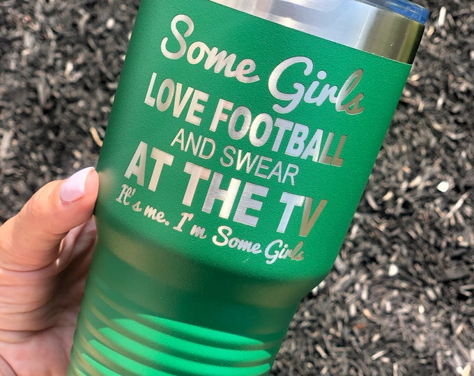 Football 30 Ounce Polar Camel Powder Coated Tumbler