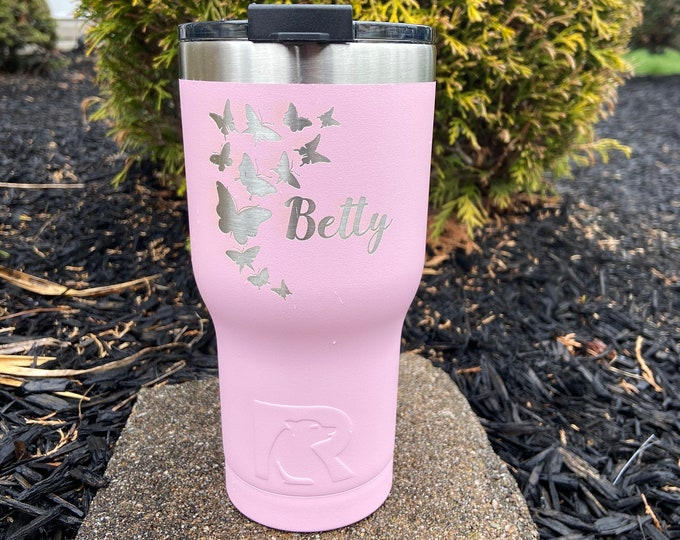Butterfly 20 Ounce RTIC Powder Coated Tumbler