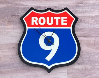 Route 9 Highway Clock
