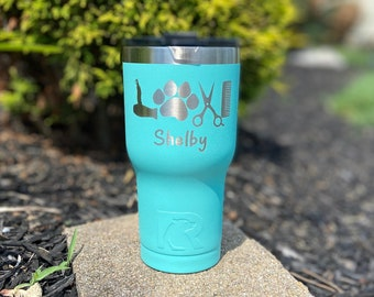 Dog Groomer 20 Ounce RTIC Powder Coated Tumbler