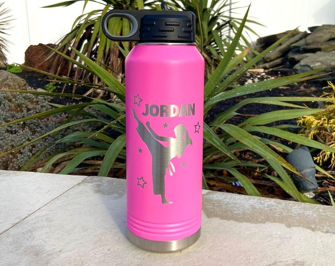 Karate Girl 32 Ounce Polar Camel Powder Coated Water Bottle