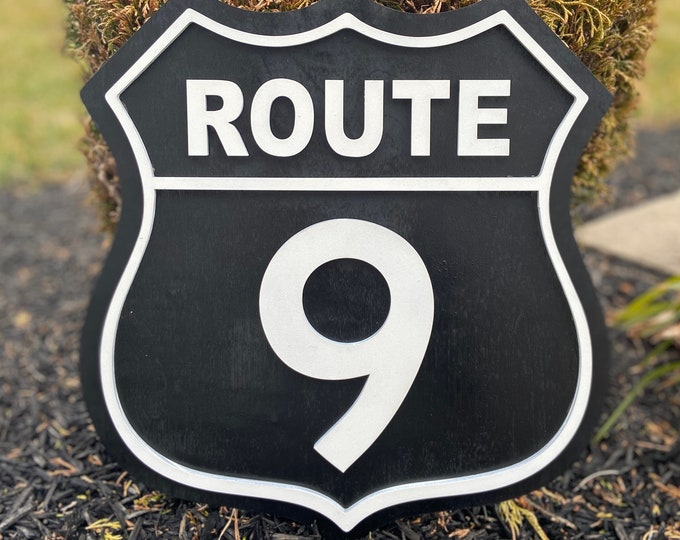 Route 9 Highway Sign