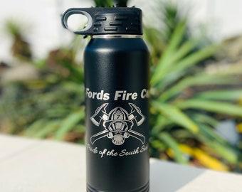 Firefighter 32 Ounce Polar Camel Powder Coated Water Bottle