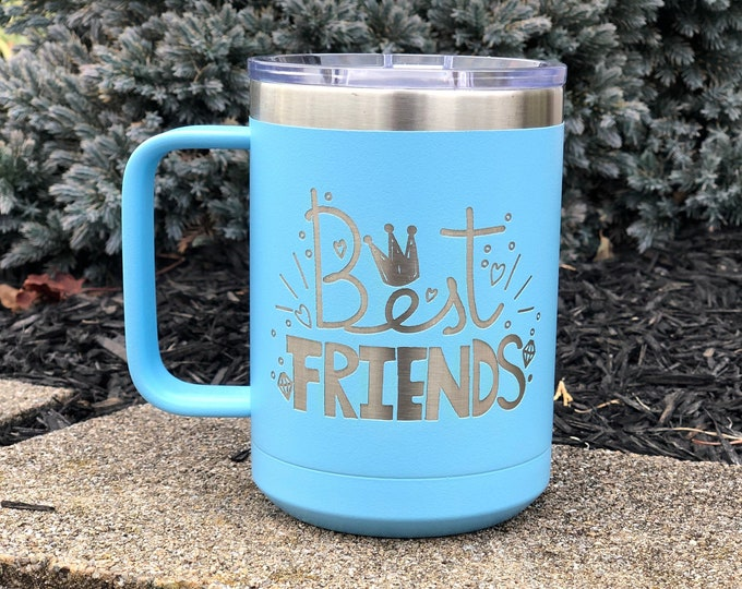 Best Friends 15 Ounce Polar Camel Powder Coated Coffee Tumbler
