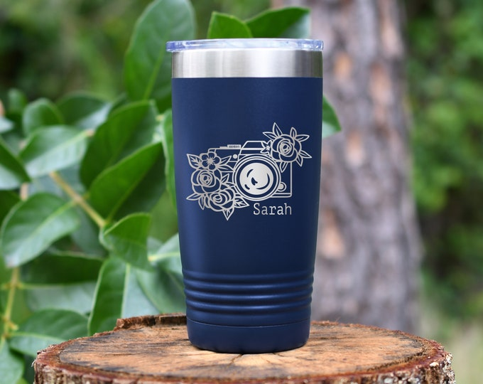 Photographer 20 Ounce Polar Camel Powder Coated Tumbler
