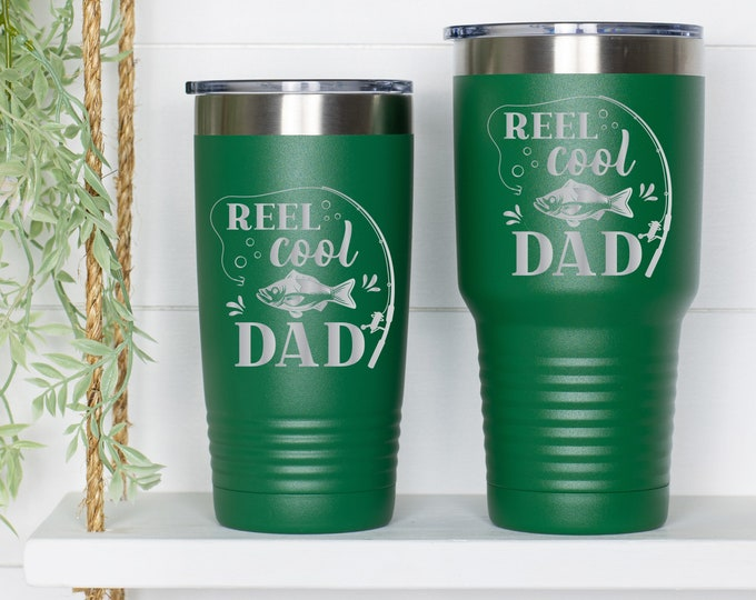 Reel Cool Dad Fishing Tumbler