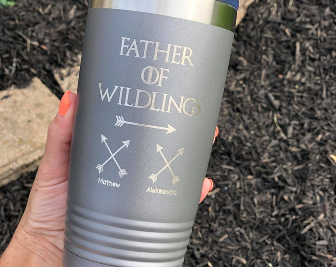 Father of Wildlings Polar Camel Powder Coated Tumbler