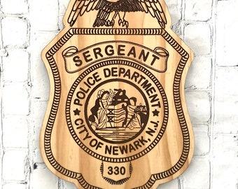 Custom police badge plaque