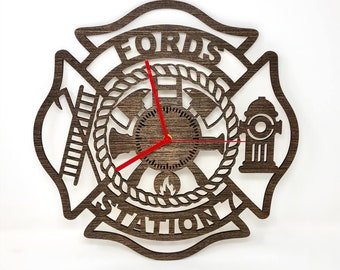 Firefighter Maltese Cross Clock