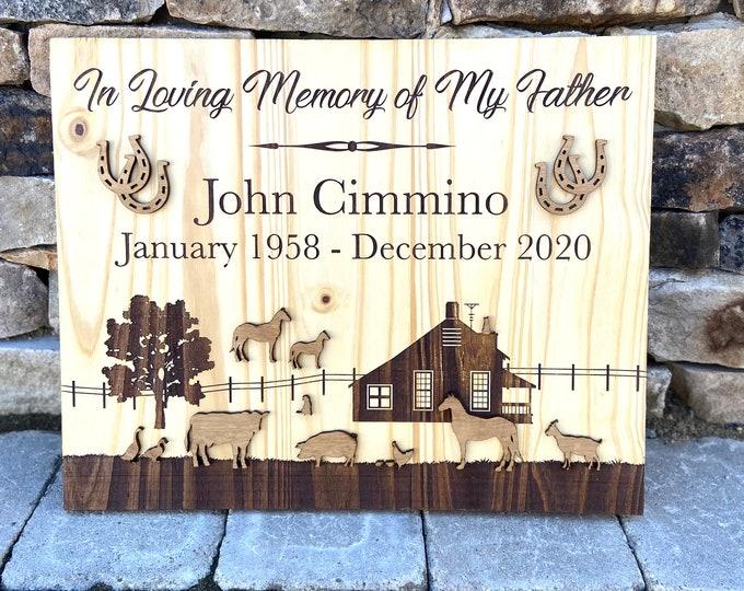 Farm Themed Memorial Plaque
