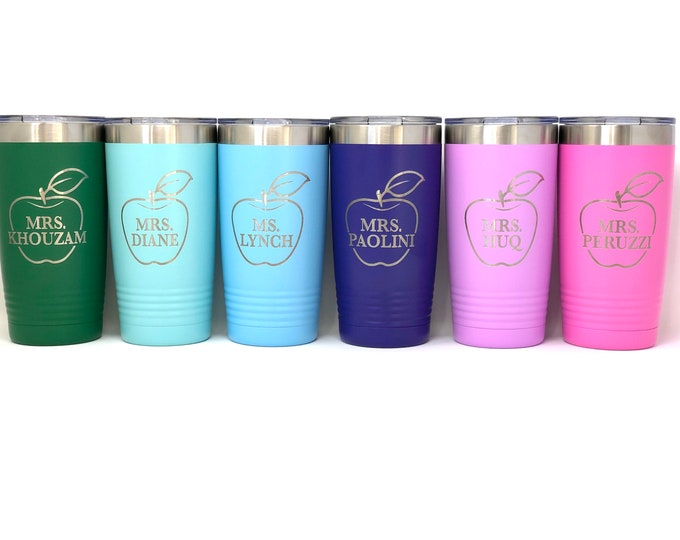 Teacher 20 Ounce Polar Camel Powder Coated Tumbler