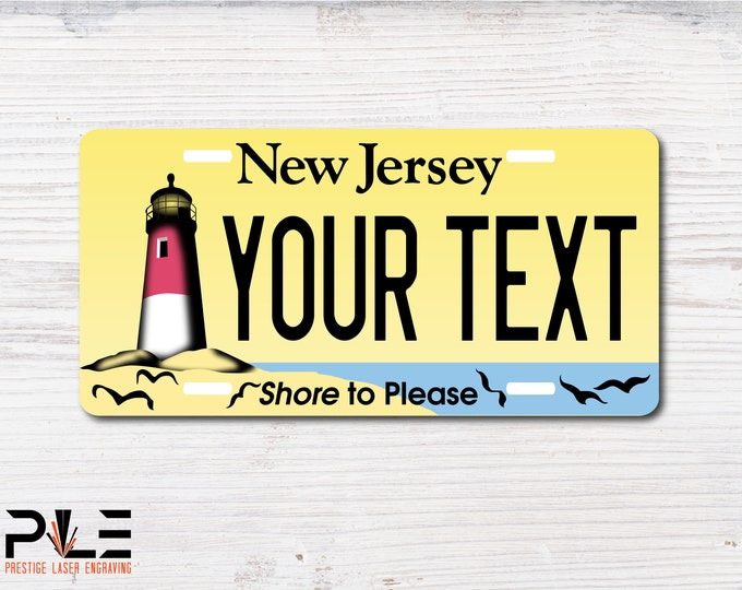 NJ License Plate *Free Personalization*