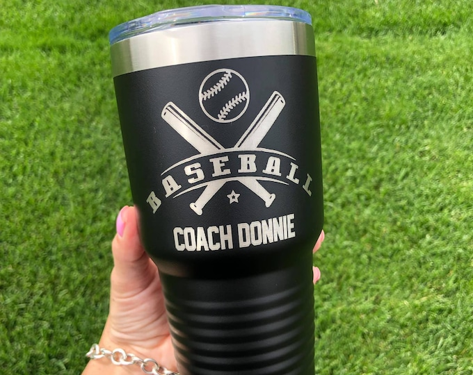 Baseball 30 Ounce Polar Camel Powder Coated Tumbler