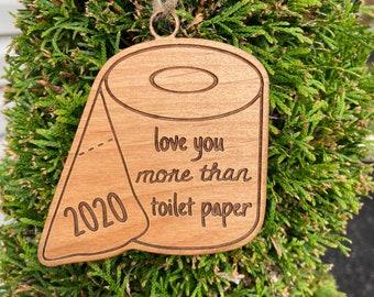Humor Toilet Paper Ornament