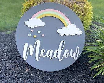 Rainbow baby name sign