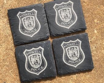 Police Slate Coasters