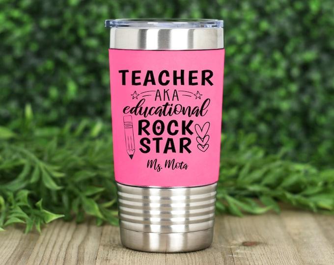 Teacher, Educational Rockstar 20oz. polar camel silicone grip tumbler
