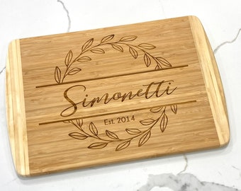 Laser Engraved Wood Cutting Board