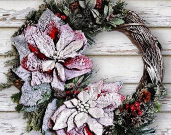 Winter Front Door Decor | Snowflake Front Door Wreath | Winter Door Hanger | Winter Wreath | Housewarming Gift | Home Decor