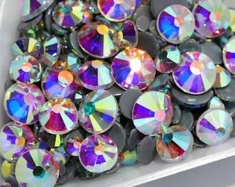 Hotfix crystal AB flatback rhinestones, highest quality, bulk bulks, gross, Stone Quantity