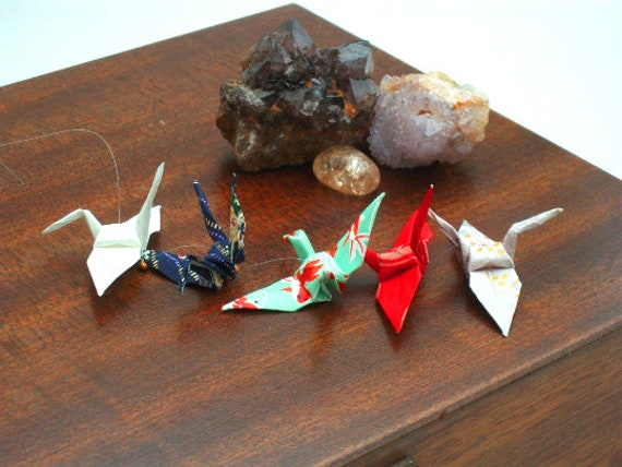 Origami Crane Mobile. Etsy. (With images) | Crane mobile, Origami mobile,  Paper crane mobile | 428x570