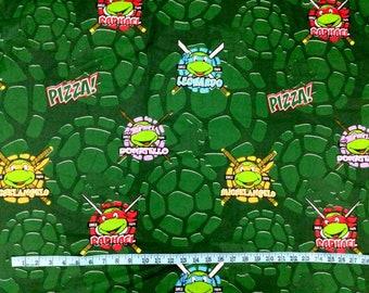 Teenage Mutant Ninja Turtles TMNT Green Fabric Different Sizes Available