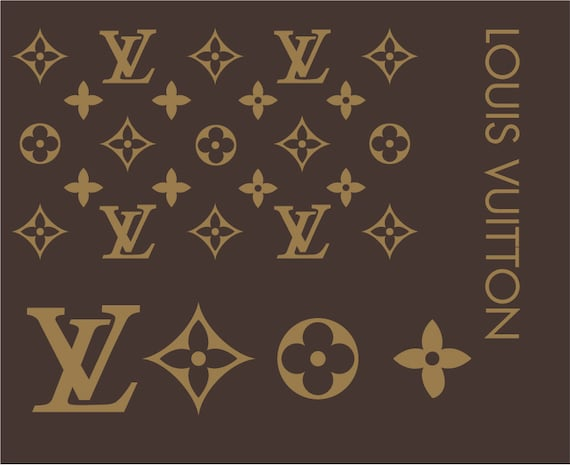 louis vuitton muster und logo svg dateien etsy. Black Bedroom Furniture Sets. Home Design Ideas