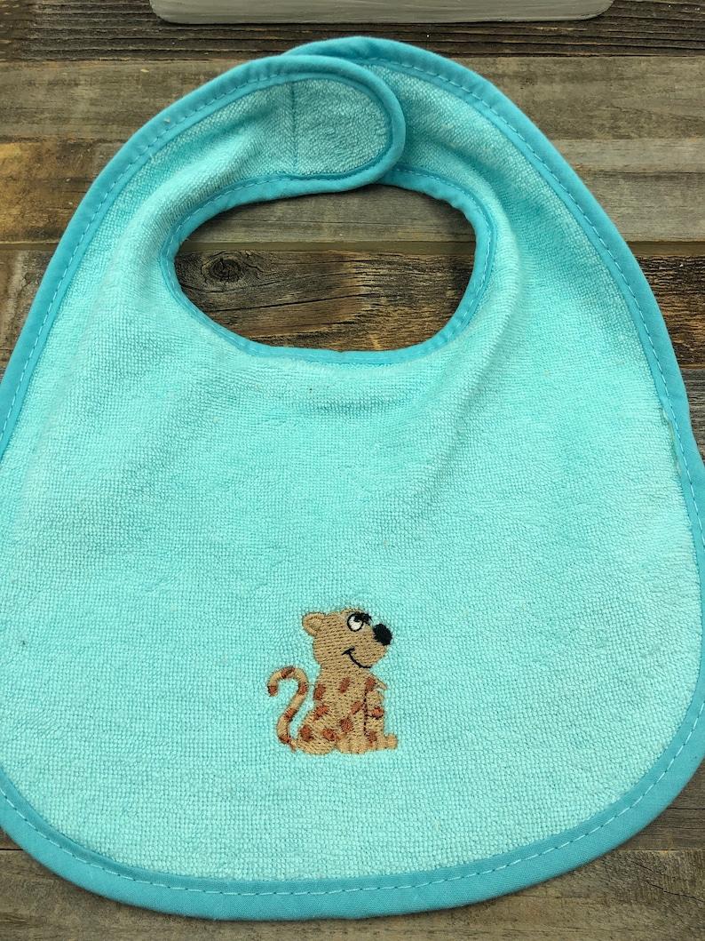 Infant Baby Set-Embroidered Baby Puppy-Burp Cloth-Bib-Gerber Onesie 6-9 months