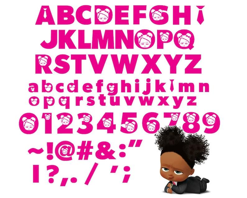 Boss Baby Girl Font SVG Vector Clipart Print Cut for ...