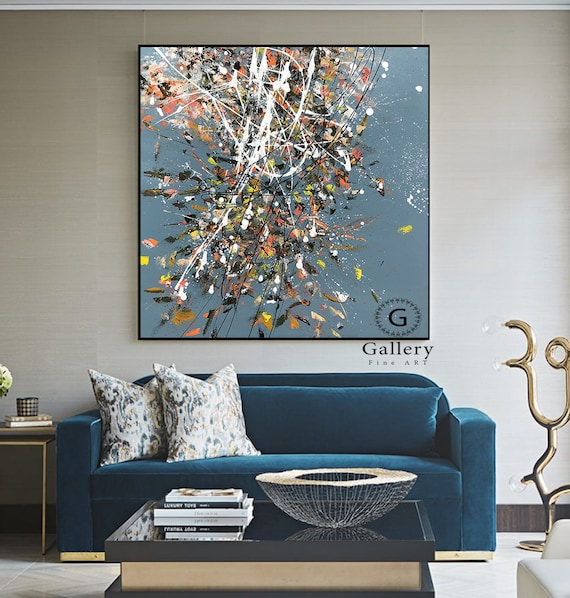 Extra Large Canvas Art Abstract Painting Blue Painting Large Artwork Original Texture Wall Art Painting On Canvas Wall Art On Canvas