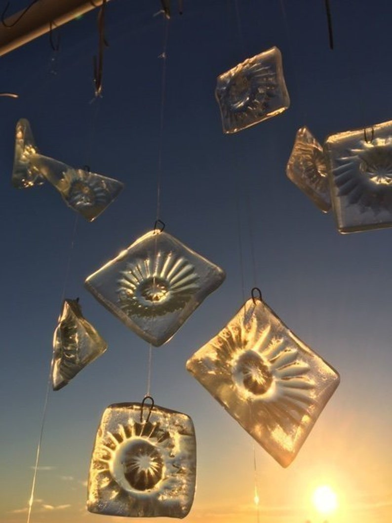 Recycled Glass Hangings image 0
