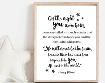 Night You Were Born Etsy