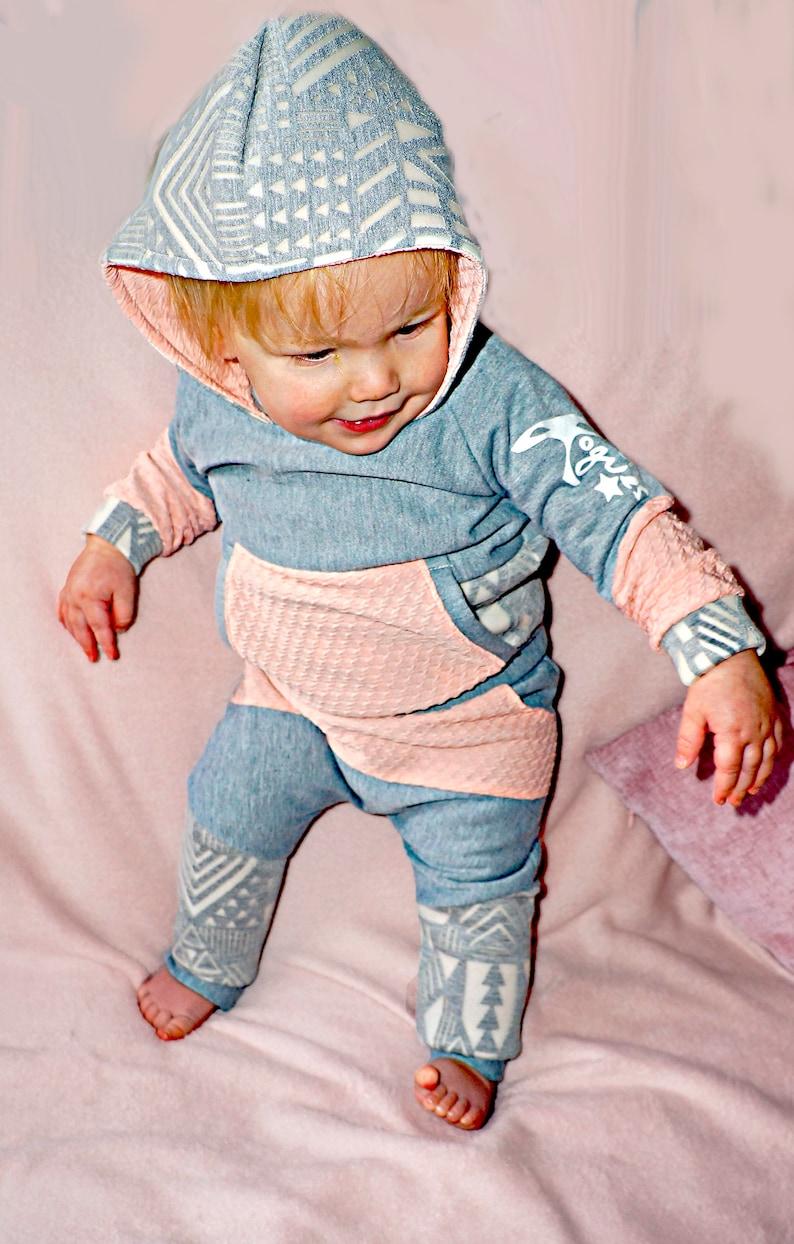 LTL Rogues designer childrenswear cute jesrey sweatshirt joggers hoody trendy unique matching outfit custom made comfy kids clothing peach