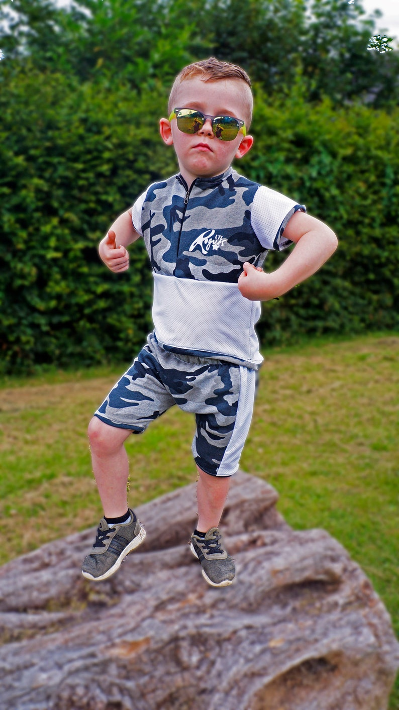 LTL Rogues designer childrenswear contrast sweatshirt camo shorts tee boys trendy unique matching outfit custom made comfy kids clothing