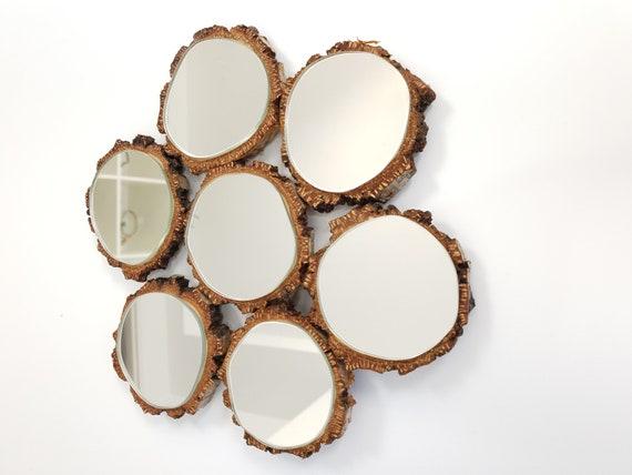 Wall Mirror Wood Mirror Bathroom Mirror Rustic Mirror Etsy