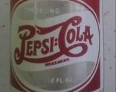 Rare 1940s Double Dot 12 oz Pepsi Cola Bottle With Original Cap