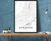 Astrakhan Map Print Map Gift Map Wall Art Map Art Map Poster Map Artwork Map Decor Map City Street Map Print