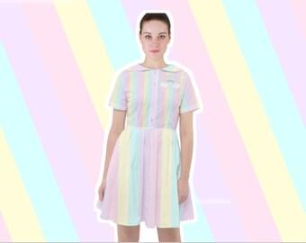 b12c1b92 Marshmallow Rainbow Sailor Dress