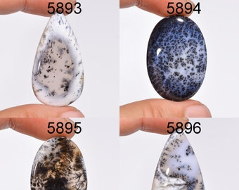 Dendritic Opal Loose Gemstone For Making Pendant Natural Dendritic Opal 4 pc Mix Shape Nice Quality Gemstone
