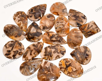 Turkish Stick Agate Cabochon For jewelry making Large Freeform Cabochon