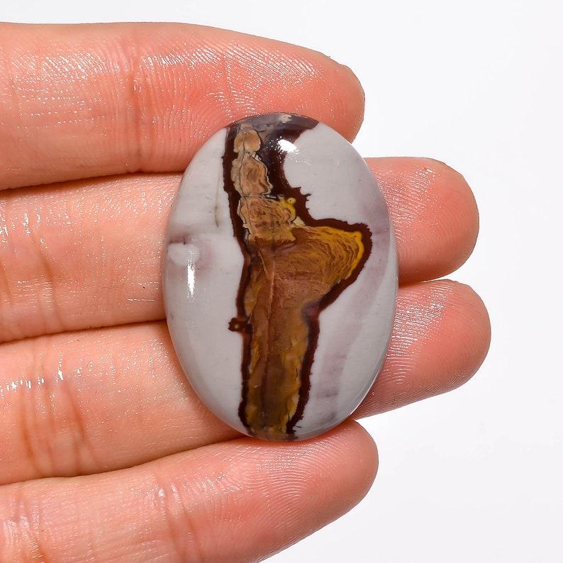 ART-CRAFTS-DIY Jewelry Making Supplies Coffee Bean Jasper Gemstone Cabochon Mix Polished Loose Designer Crystal Gemstone