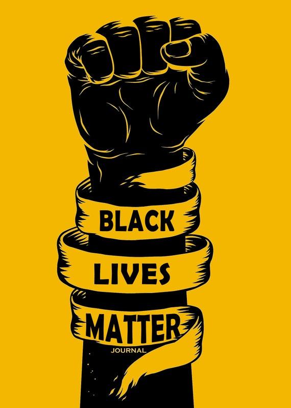 INspire: Black Lives Matter Journal Black Art Queen Black | Etsy