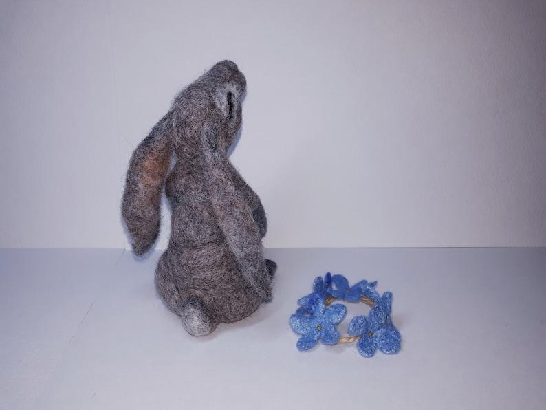Needle felted bunny Easter bunny felt Bunny ornament Tiny needle felted rabbit Felted animal miniature bunny