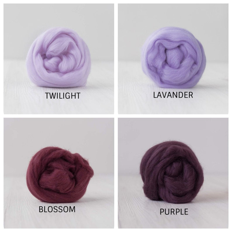 Extra Fine Merino Wool Tops  19.5 micron 2 oz 56 gram 4 colors available