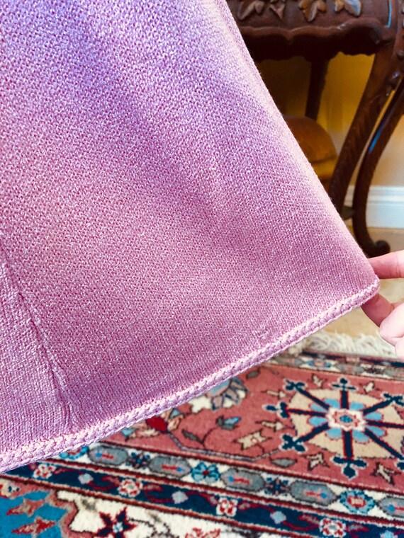Vintage Beautiful Ballet Pink Knit Dress - image 5
